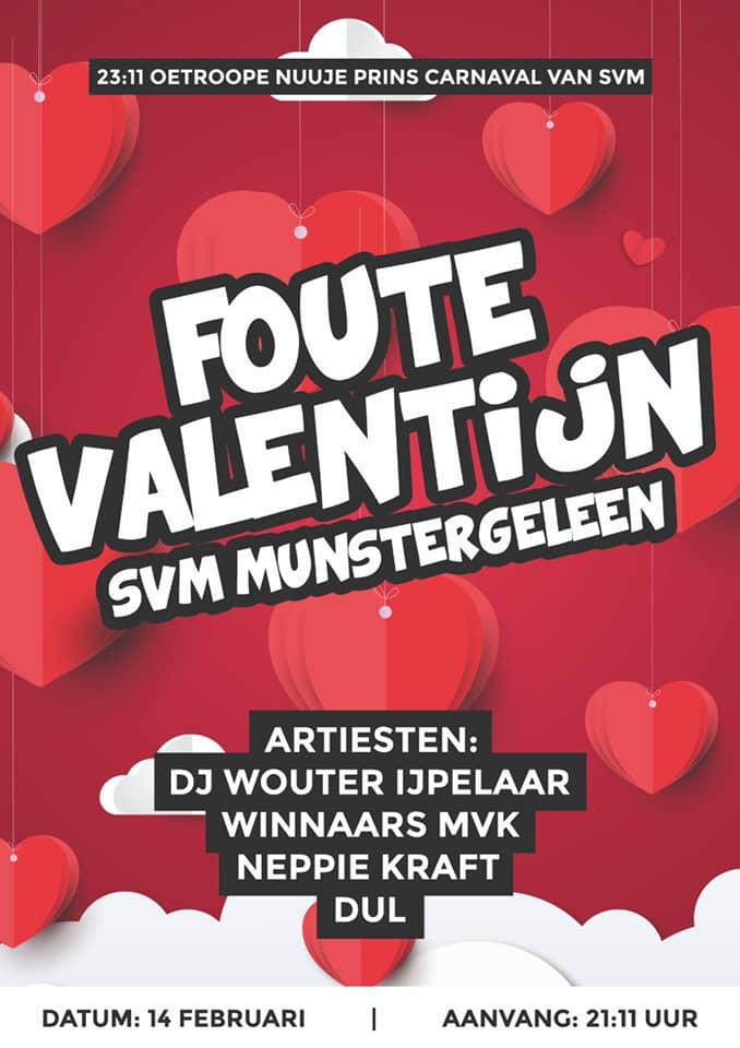 Valentijnsaovend is vastelaovesaovend bij SVM dit jaar!